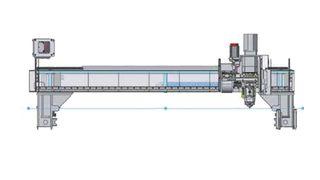 Lehká, ale pevná konstrukce osy - Laser LCG 3015